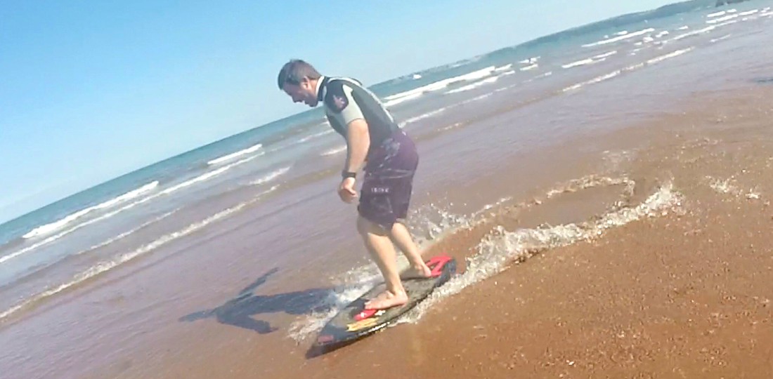 Back on the skimboard for the first time in years!