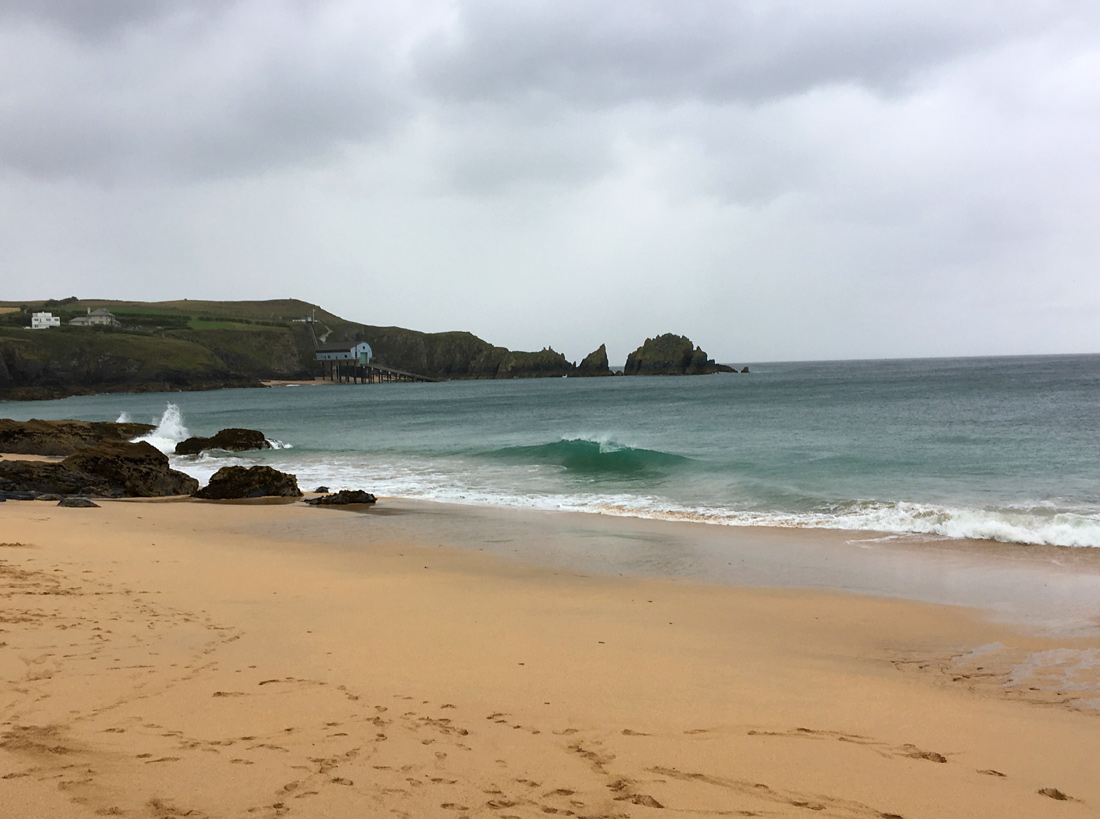 Mother Iveys Bay can still produce good skimboarding conditions
